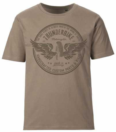 Thunderbike Clothing Thunderbike men´s T-Shirt Vintage Wheel brown  - 19-31-1315V