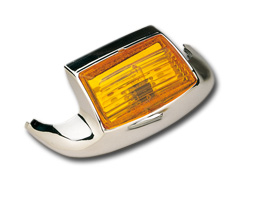 Custom Chrome Front Fender Tip Light Amber  - 19-327