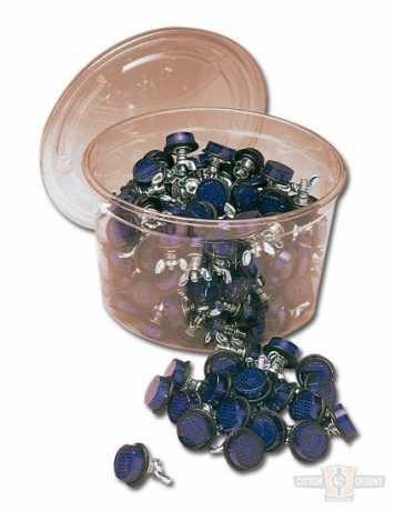 Custom Chrome Blue License Plate Reflectors (40)  - 19-780
