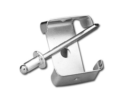 Custom Chrome Circuit Breaker Clip with Rivets  - 19-295