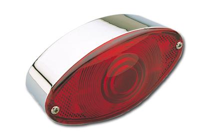 Custom Chrome Cateye Taillight alu/chrome  - 85-861