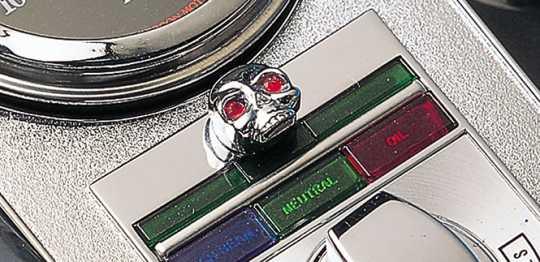 Custom Chrome Dash Mutterblenden Skull, chrom  - 19-971