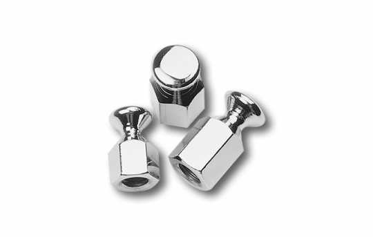 Custom Chrome Bungee Nuts 3/8-16 (2)  - 20-209