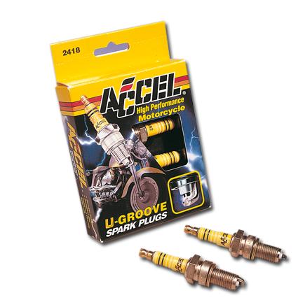 Accel Accel Spark Plug U-Groove 2401 (2)  - 22-000