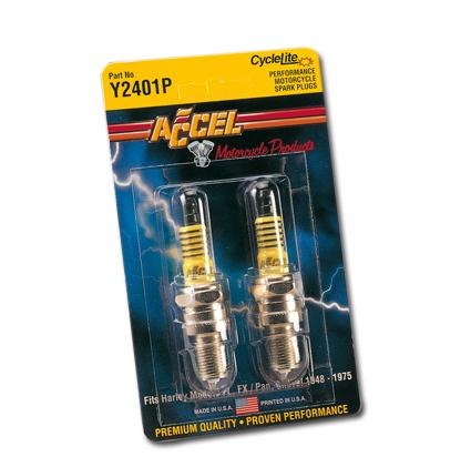 Accel Accel Platinum Spark Plugs 6R12 Y2418P  - 22-023