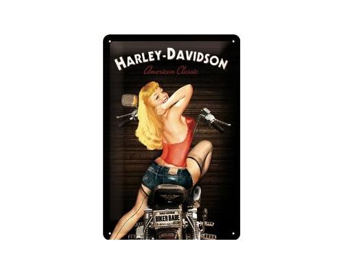 H-D Motorclothes Harley-Davidson Blechschild H-D Biker Babe  - 22214
