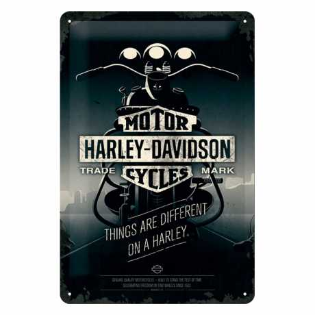 Harley-Davidson Metal Shield Things are different