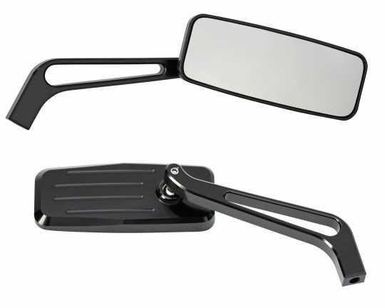 Thunderbike Mirror Set Action Fluted black  - 23-99-195