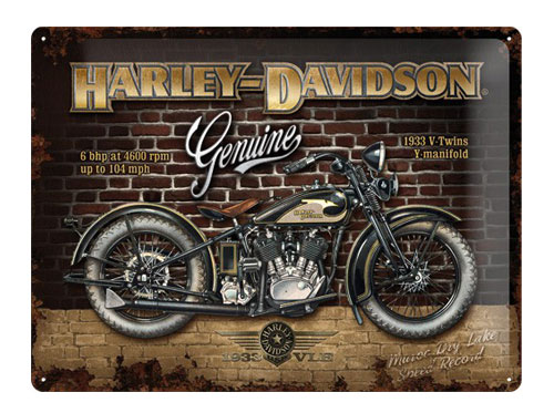 H-D Motorclothes Harley-Davidson Metal Sign Brickwall  - 23124
