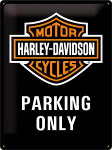 Harley-Davidson Metal shield H-D Parking Only