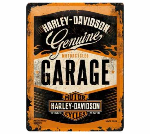 H-D Motorclothes Harley-Davidson Metal Sign Garage Logo  - 23188-BS