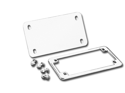Custom Chrome Licence Plate Trim Set  - 24-0136