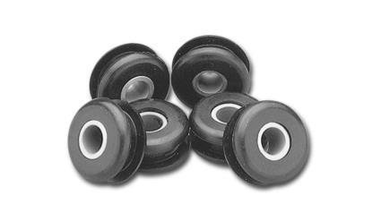 Custom Chrome Rubber Mounts für Flatside Tanks (6)  - 25-577