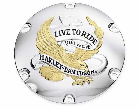 Harley-Davidson Derby Deckel Live To Ride Gold  - 25127-04A