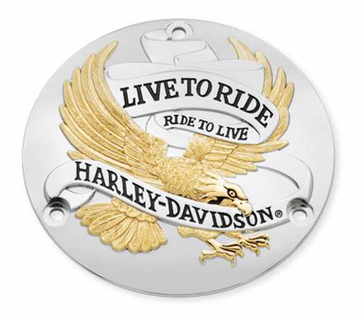 Harley-Davidson Derby Cover Live To Ride Gold  - 25391-90T