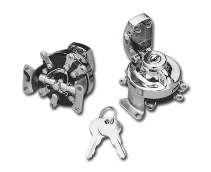 Custom Chrome Mechanisches Zündschloss mit sechs Anschlusslaschen  - 25-540