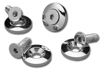Custom Chrome Bolts & Washers for Flatside Tanks, chrome  - 25-590