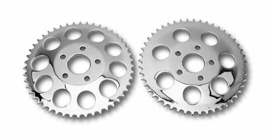 Custom Chrome Flat Rear Sprocket 46T, Chrome  - 85-134