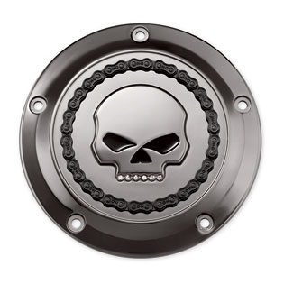 Harley-Davidson Derby Cover jeweled Skull & Chain Smokey chrome  - 25700130