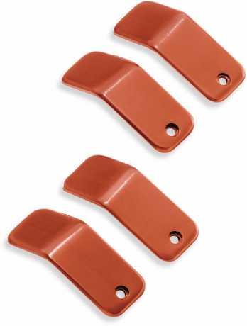 Harley-Davidson Dominion Einsätze obere Rocker Box Covers - orange gebürstet  - 25700793