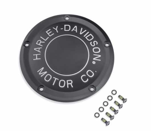 Harley-Davidson H-D Motor Co. Derby Deckel schwarz  - 25701020