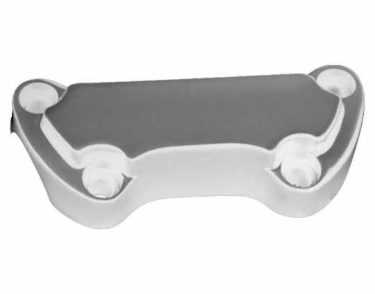 "Custom Chrome Handlebar Top Clamp 1"" Scalloped, chrome  - 26-153"