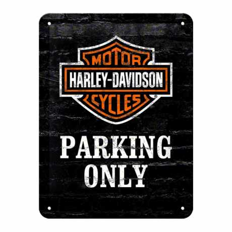H-D Motorclothes Harley-Davidson Blechschild Parking only  - 26117
