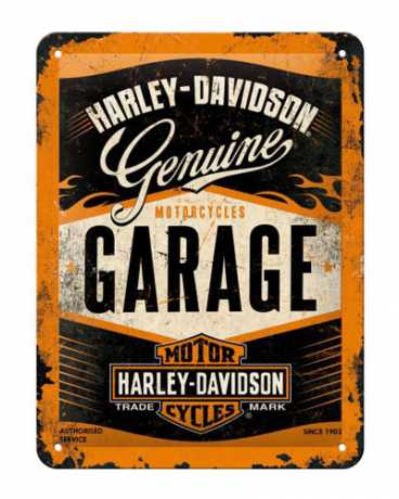 Harley-Davidson Metal Sign Harley Garage Logo