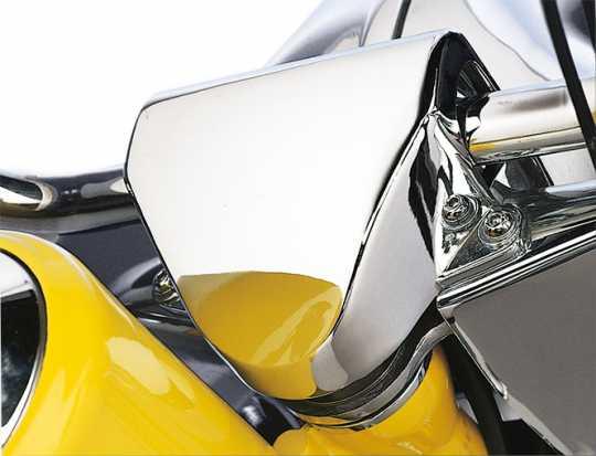 Custom Chrome Riser-Abdeckung 122mm chrom, ohne Steering Damper  - 26-538