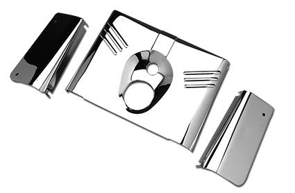 Custom Chrome Gabelverkleidung 3-teilig, chrom  - 26-760