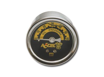 Accel Accel Oil Gauge 60 lbs, silver  - 27-0047