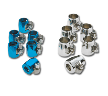 Chrome Hose Clamps for 3/8 & 5/16 hose  - 27-0600