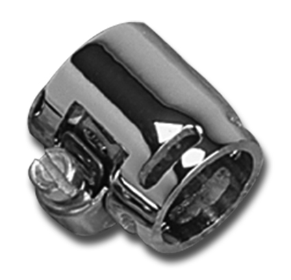 Custom Chrome Custom Hose Clamps with Slotts 3/8 inch  - 27-0606
