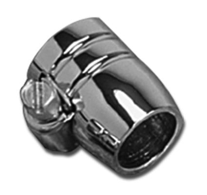 Custom Chrome Grooved Hose Clamp 1/4 chrome  - 27-0609