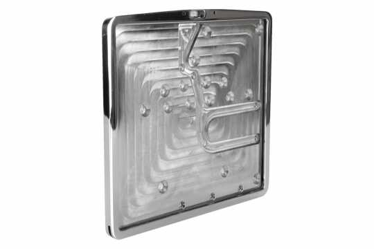 Thunderbike License Plate Frame Inside Plate 16x20cm | polished - 28-98-220
