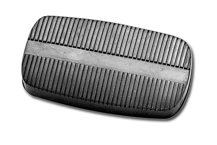 Custom Chrome Brake Pedal Rubber Only  - 12-241
