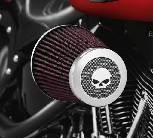 Harley-Davidson Screamin' Eagle Heavy Breather Endkappe Willie G. Skull  - 28720-10