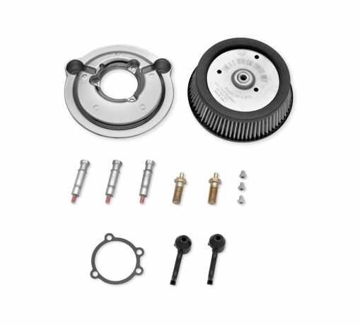 Harley-Davidson Screamin' Eagle Stage I Air Cleaner Kit - Round Chrome  - 29000019A