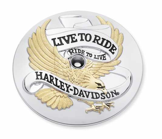 Harley-Davidson Air Cleaner Trim Live To Ride Gold  - 29328-99