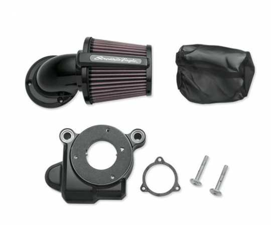 Harley-Davidson Screamin' Eagle Heavy Breather Elite Performance Luftfilter Kit 58mm, schwarz  - 29400285