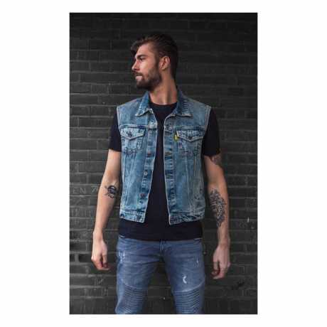 Motorcycle Storehouse Motorcycle Storehouse Denim Vest Stonewashed blue  - 300070V