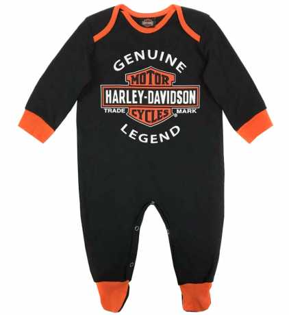H-D Motorclothes Harley-Davidson Baby Body Interlock Bar & Shield Footed Coverall  - 3050911V