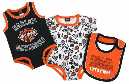 H-D Motorclothes Harley-Davidson Baby Boys' Biker 2-Pack Creeper Set  - 3052905V