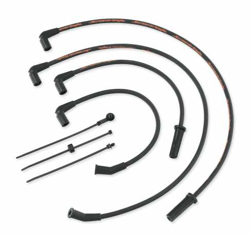 Screamin' Eagle 10mm Phat Spark Plug Wires black