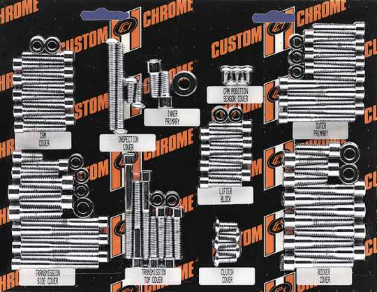 Custom Chrome Derby Bolts, Button Torx Head  - 61-2315