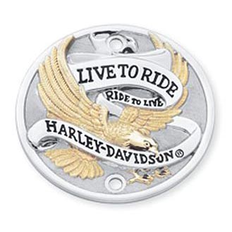 Harley-Davidson Timer Cover Live To Ride Gold  - 32585-90T