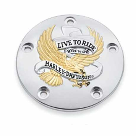 Harley-Davidson Timer Cover Live To Ride Gold  - 32689-99A