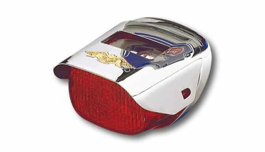Custom Chrome Gold Eagle Taillight Visor  - 34-0276