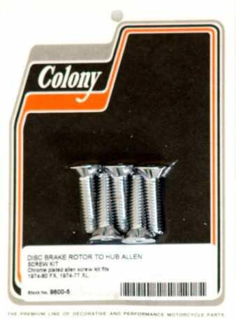 "Colony Colony Rotor to hub screws 18 x 1.25"" countersunk  - 35-657"