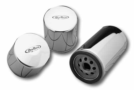 RevTech RevTech magnetic HP Oil Filter, short chrome  - 35-077